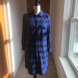 A Blue and Black, long sleeve Merona dress.